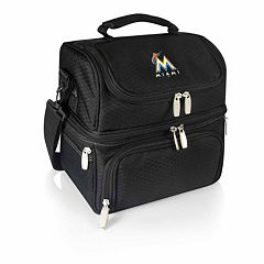 Picnic Time Miami Marlins Pranzo 7-Piece Insulated Cooler Lunch Tote Set