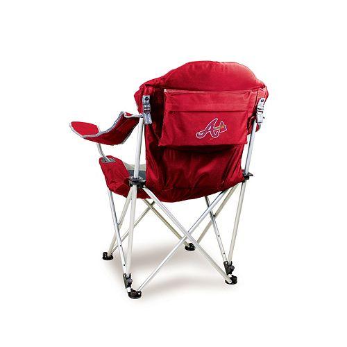 Picnic Time Atlanta Braves Reclining Camp Chair