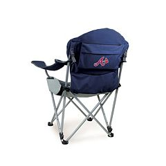 Picnic Time Atlanta Braves Navy Reclining Camp Chair