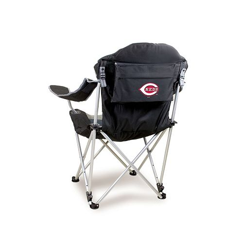 Picnic Time Cincinnati Reds Black Reclining Camp Chair