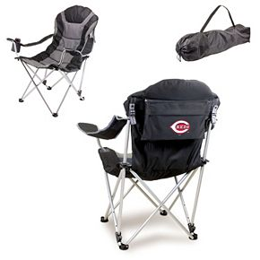 Picnic Time Cincinnati Reds Black Reclining Camp Chair