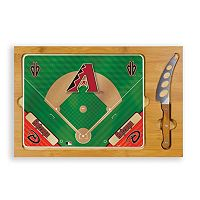 Picnic Time Arizona Diamondbacks Icon Rectangular Cutting Board Gift Set