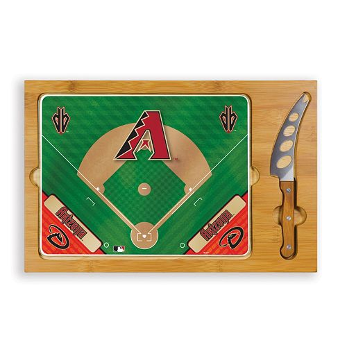 Picnic Time Arizona Diamondbacks Icon Rectangular Cutting Board Gift Set