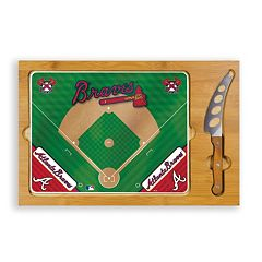 Picnic Time Atlanta Braves Icon Rectangular Cutting Board Gift Set