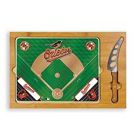 Picnic Time Baltimore Orioles Icon Rectangular Cutting Board Gift Set