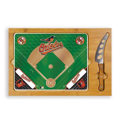 Picnic Time Baltimore Orioles Icon Rectangular Cutting Board Gift Set
