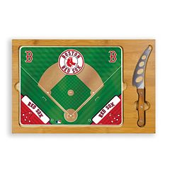 Picnic Time Boston Red Sox Icon Rectangular Cutting Board Gift Set