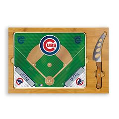Picnic Time Chicago Cubs Icon Rectangular Cutting Board Gift Set