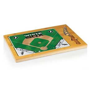 Picnic Time Chicago White Sox Icon Rectangular Cutting Board Gift Set