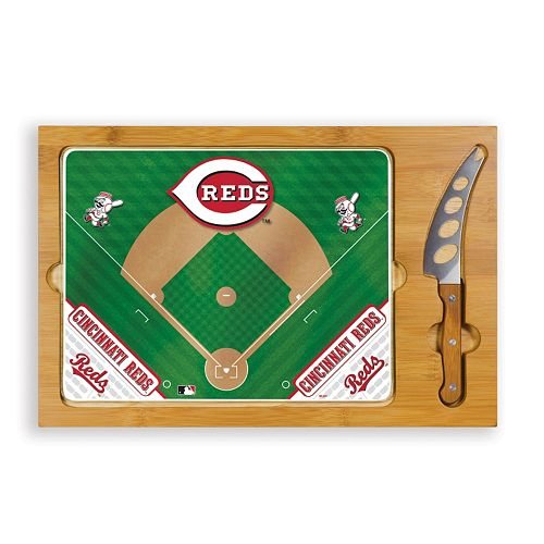 Picnic Time Cincinnati Reds Icon Rectangular Cutting Board Gift Set