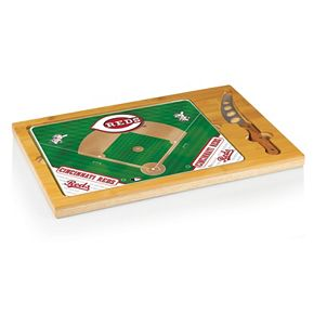 Picnic Time Cincinnati Reds Icon Rectangular Cutting Board Gift Set
