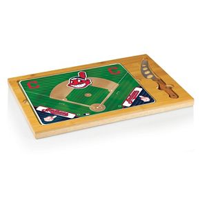 Picnic Time Cleveland Indians Icon Rectangular Cutting Board Gift Set