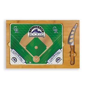 Picnic Time Colorado Rockies Icon Rectangular Cutting Board Gift Set