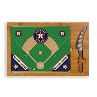 Picnic Time Houston Astros Icon Rectangular Cutting Board Gift Set