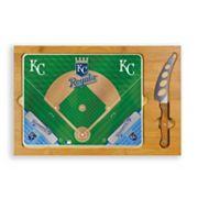 Picnic Time Kansas City Royals Icon Rectangular Cutting Board Gift Set