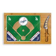 Picnic Time Los Angeles Dodgers Icon Rectangular Cutting Board Gift Set