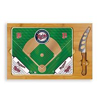 Picnic Time Minnesota Twins Icon Rectangular Cutting Board Gift Set