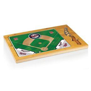 Picnic Time Minnesota Twins Icon Rectangular Cutting Board Gift Set