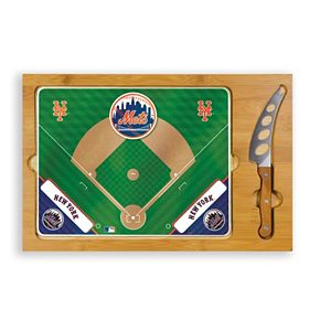 Picnic Time New York Mets Icon Rectangular Cutting Board Gift Set