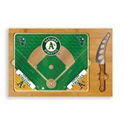 Picnic Time Oakland Athletics Icon Rectangular Cutting Board Gift Set