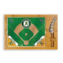Picnic Time Oakland Athletics Icon Rectangular Cutting Board Gift Set