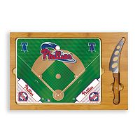 Picnic Time Philadelphia Phillies Icon Rectangular Cutting Board Gift Set