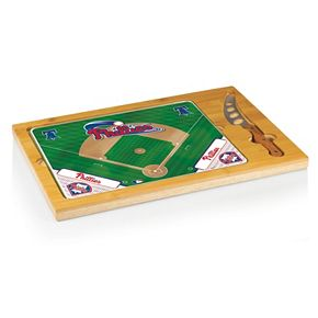 Picnic Time Philadelphia Phillies Icon Rectangular Cutting Board Gift Set