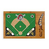 Picnic Time Pittsburgh Pirates Icon Rectangular Cutting Board Gift Set