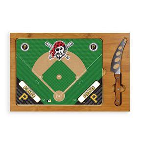 Picnic Time Pittsburgh Pirates Icon Rectangular Cutting Board Gift Set