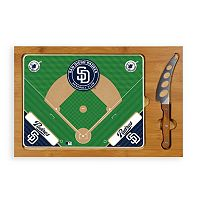 Picnic Time San Diego Padres Icon Rectangular Cutting Board Gift Set