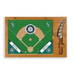 Picnic Time Seattle Mariners Icon Rectangular Cutting Board Gift Set