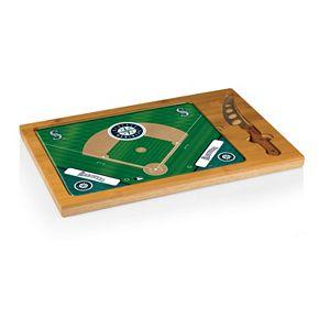 Picnic Time Seattle Mariners Icon Rectangular Cutting Board Gift Set