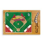 Picnic Time St. Louis Cardinals Icon Rectangular Cutting Board Gift Set