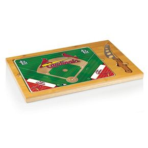 Picnic Time St. Louis Cardinals Icon Rectangular Cutting Board Gift Set