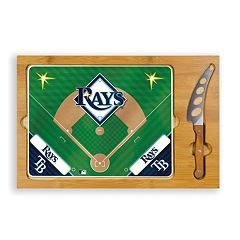Picnic Time Tampa Bay Rays Icon Rectangular Cutting Board Gift Set