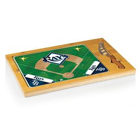 Picnic Time Tampa Bay Rays Icon Rectangular Cutting Board Gift Set