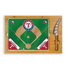 Picnic Time Texas Rangers Icon Rectangular Cutting Board Gift Set