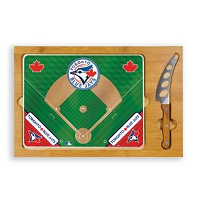 Picnic Time Toronto Blue Jays Icon Rectangular Cutting Board Gift Set