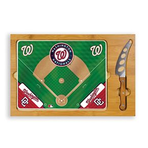 Picnic Time Washington Nationals Icon Rectangular Cutting Board Gift Set