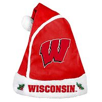 Adult Wisconsin Badgers Santa Hat