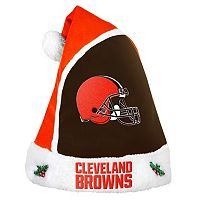 Adult Cleveland Browns Santa Hat