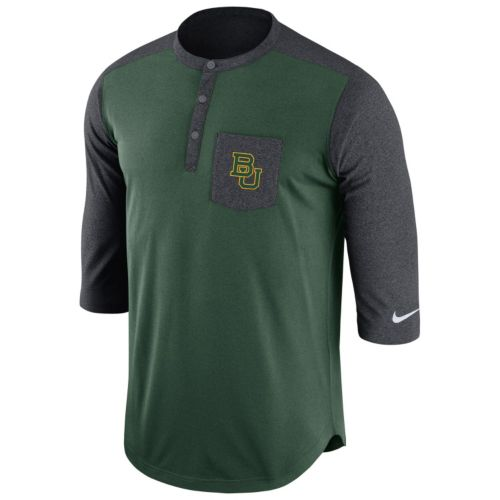 Men's Nike Baylor Bears Dri-FIT Touch Henley