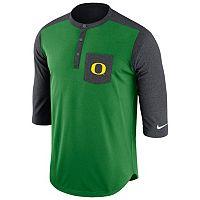 Men's Nike Oregon Ducks Dri-FIT Touch Henley