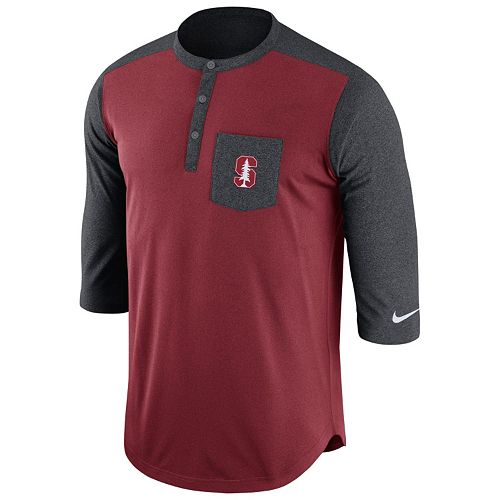 Men's Nike Stanford Cardinal Dri-FIT Touch Henley