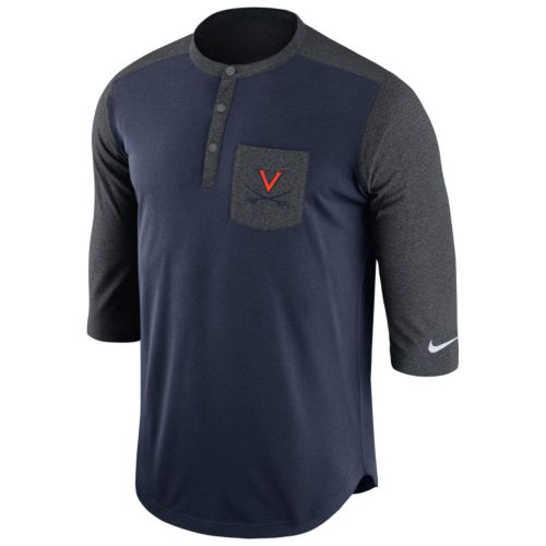 Men's Nike Virginia Cavaliers Dri-FIT Touch Henley