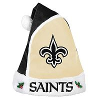 Adult New Orleans Saints Santa Hat