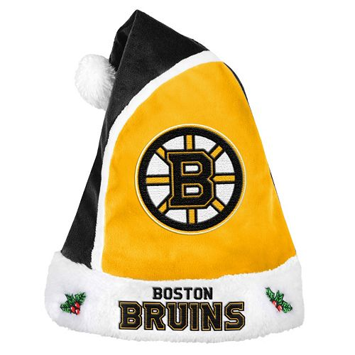 Adult Boston Bruins Santa Hat