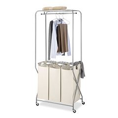 Whitmor Triple Sorter Laundry Cart