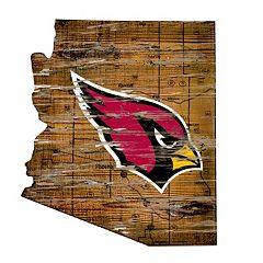 Arizona Cardinals Distressed 24' x 24' State Wall Art