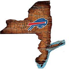 Buffalo Bills Distressed 24' x 24' State Wall Art